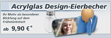 Acrylglas Design-Eierbecher