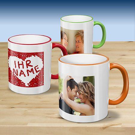 Kaffeebecher Color - Fototasse