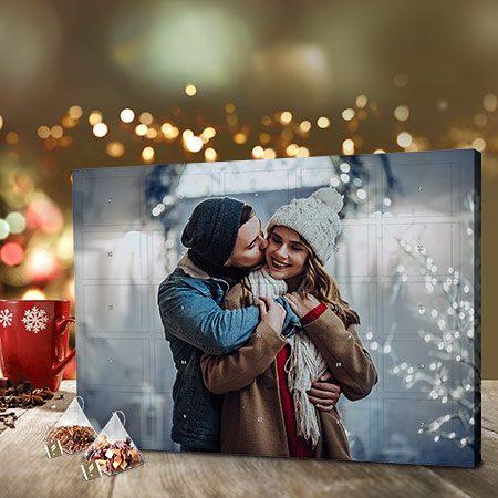 Foto-Adventskalender mit Tee