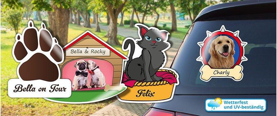 Aufkleber für Ihre Haustiere bedrucken