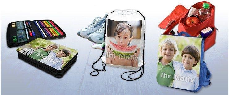 Sportbeutel, Federmappen und Kinder-Rucksäcke