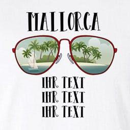 Mallorca T-Shirt mit Design-Vorlage zum Selbstgestalten