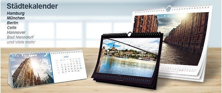 Große Auswahl an kreativen Städtekalendern