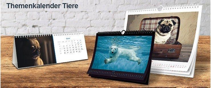 Individuelle Themenkalender mit Tieren
