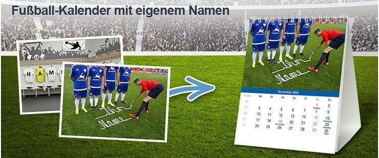 Fußball-Kalender mit Namen selbst gestalten