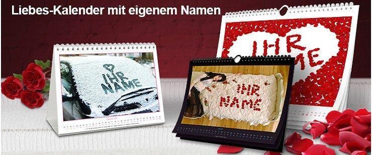 Personalisierte Liebes-Kalender mit Namen