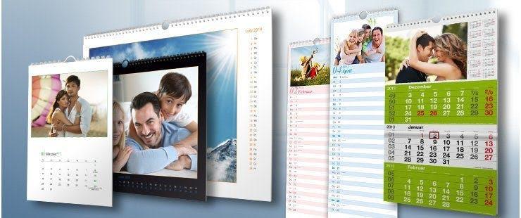 Wandkalender in vielen Farben, Formaten und Ausführungen