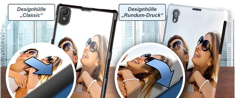 """""""Rundum-Druck""""-Option: Xperia Handyhülle mit bedruckten Rändern"""