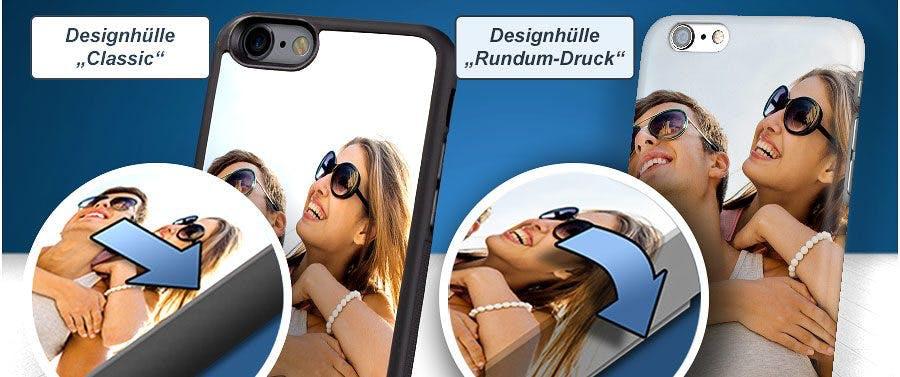 """""""Rundum-Druck""""-Option: Handyhülle mit bedruckten Rändern"""