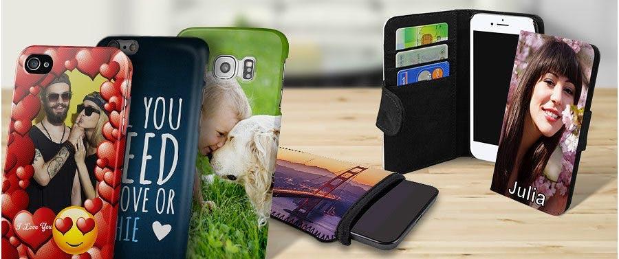 Handyhüllen mit Foto, Namen und Wunsch-Text