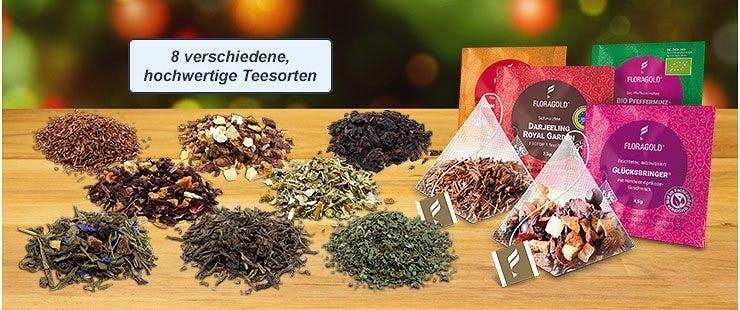 24 hochwertige Teefüllungen – 3 x 8 Geschmacksrichtungen