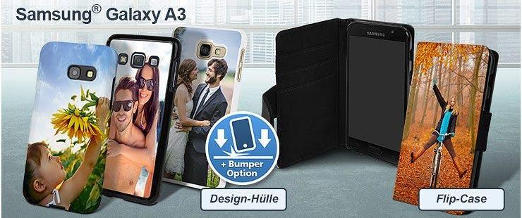 Samsung Galaxy A3 (2017, 2016 und 2015) Handyhülle bedrucken
