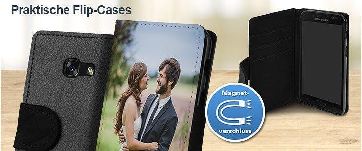 Selbst gestalten: Flip-Cases mit eigenem Foto