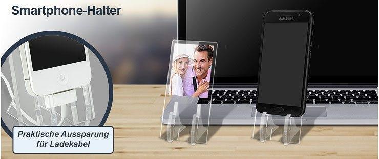 Individueller Smartphone-Halter mit Bild und Wunschtext