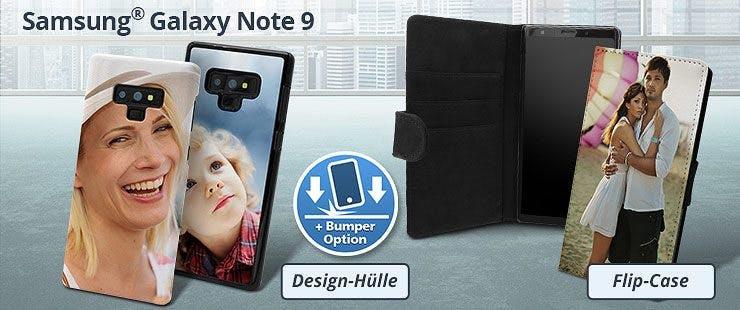 Samsung Galaxy Note 9 Hülle mit Foto