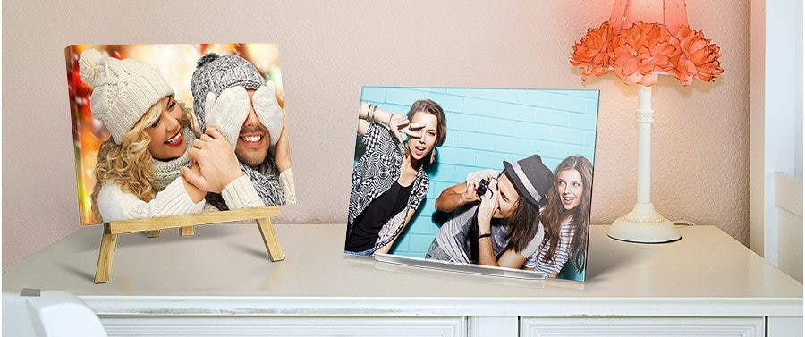 Fotoaufsteller mit eigenem Bild bedrucken