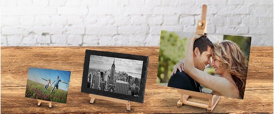 Ihr Foto auf echter Schieferplatte gedruckt