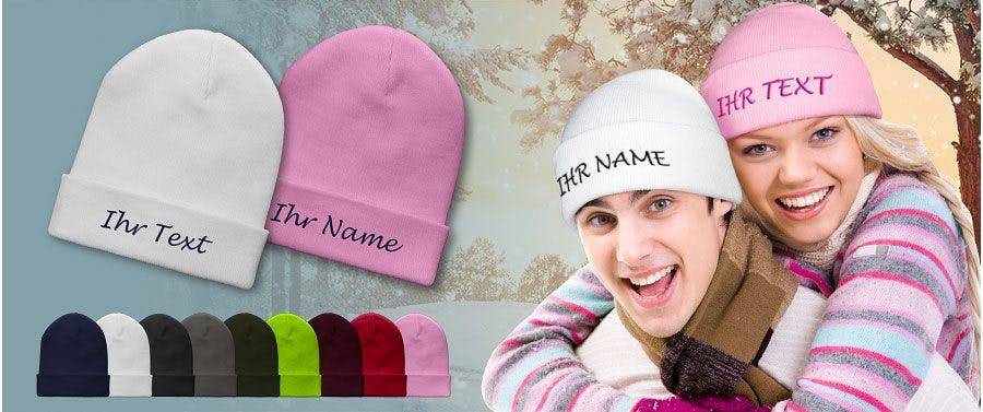 Personalisierte Beanie Mütze selbst gestalten