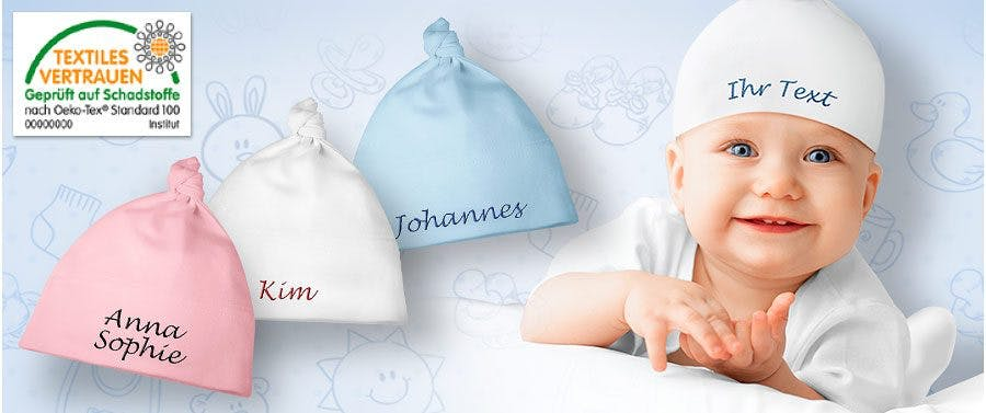 Persönliche Babymützen mit Namen