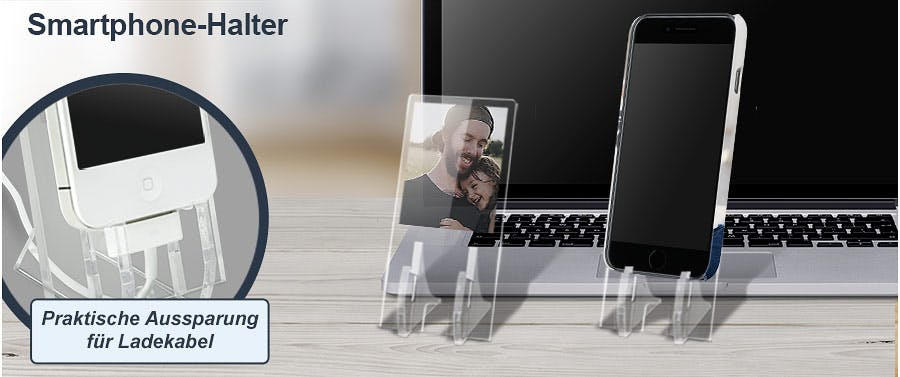 Persönlichen Smartphonehalter bedrucken