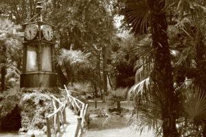 Wasseruhr im Park der Villa Borghese