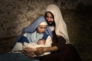 Krippenszene Geburt Jesus