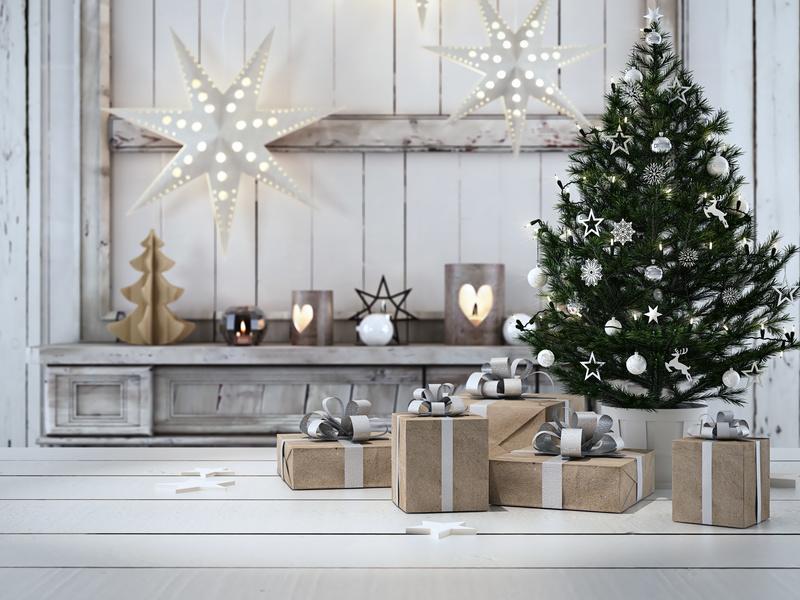 Moderne Weihnachtsdeko