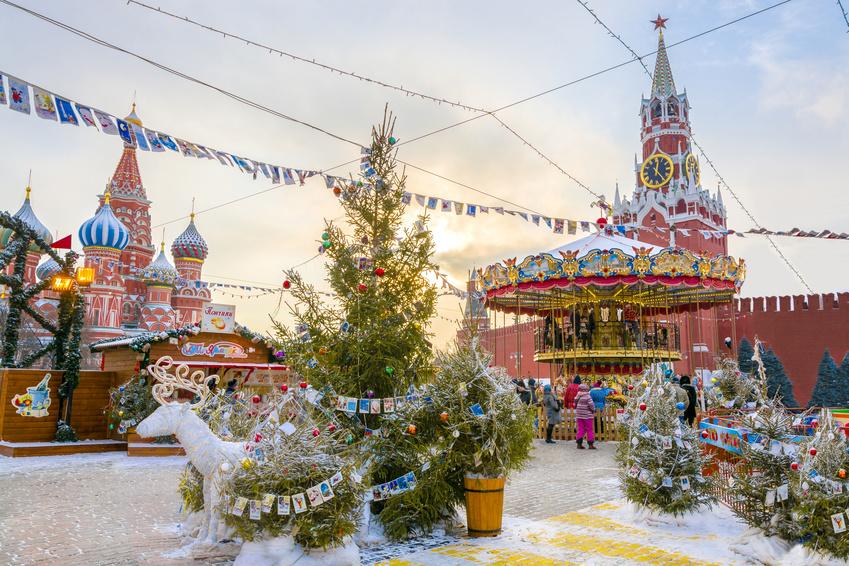 Weihnachtsmarkt am Roten Platz, Moskau