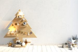 Minimalistische skandinavische Weihnachtsdeko