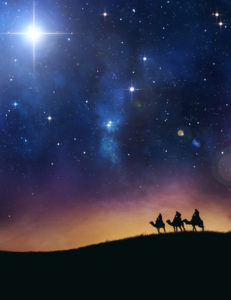 3 Weisen folgen Stern von Bethlehem