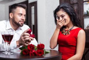 Heiratsantrag Dinner