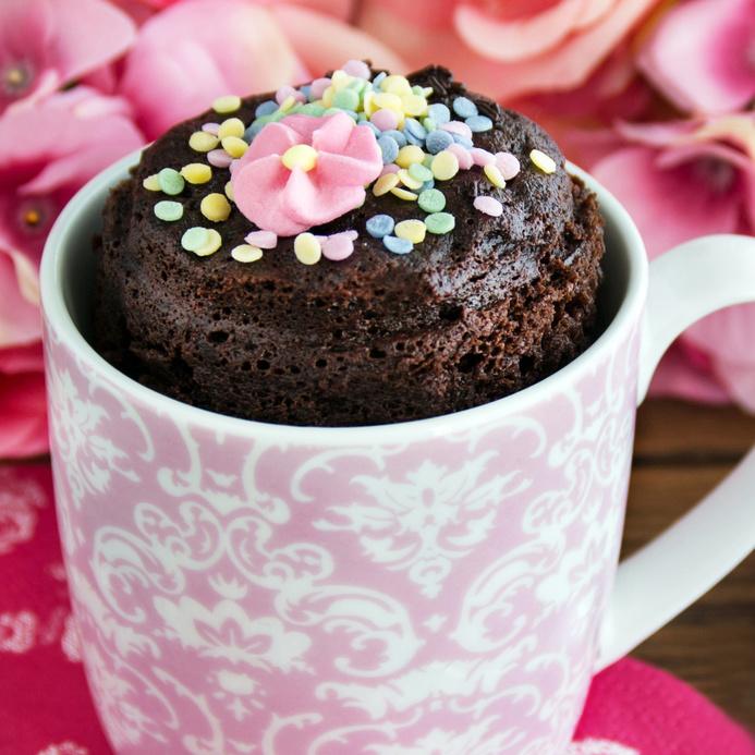 Tassen-Schokoladenkuchen