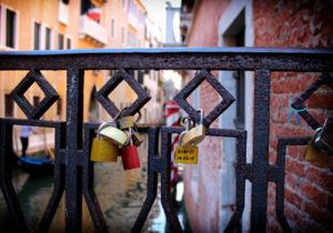 Venedig Liebesschlösser