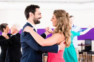 Pärchen beim Tanzkurs