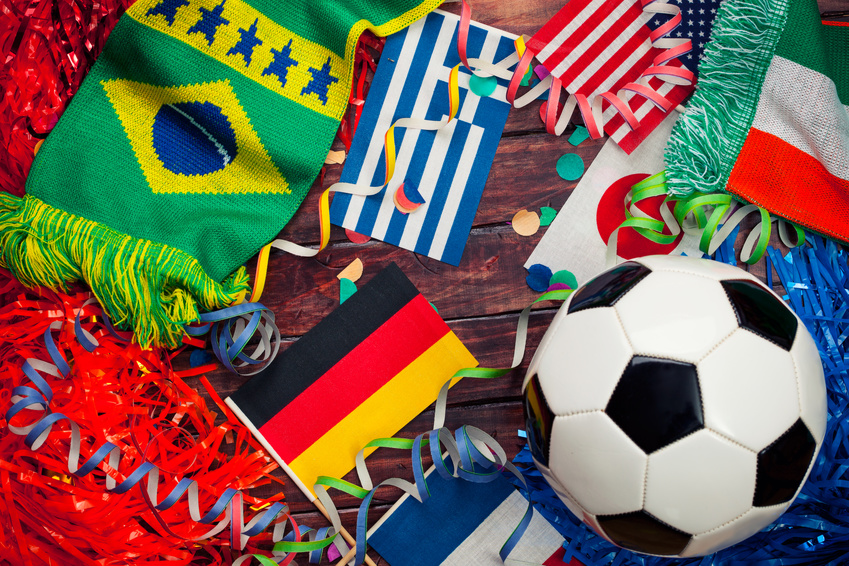 Soccer: International Competition And Ball Background